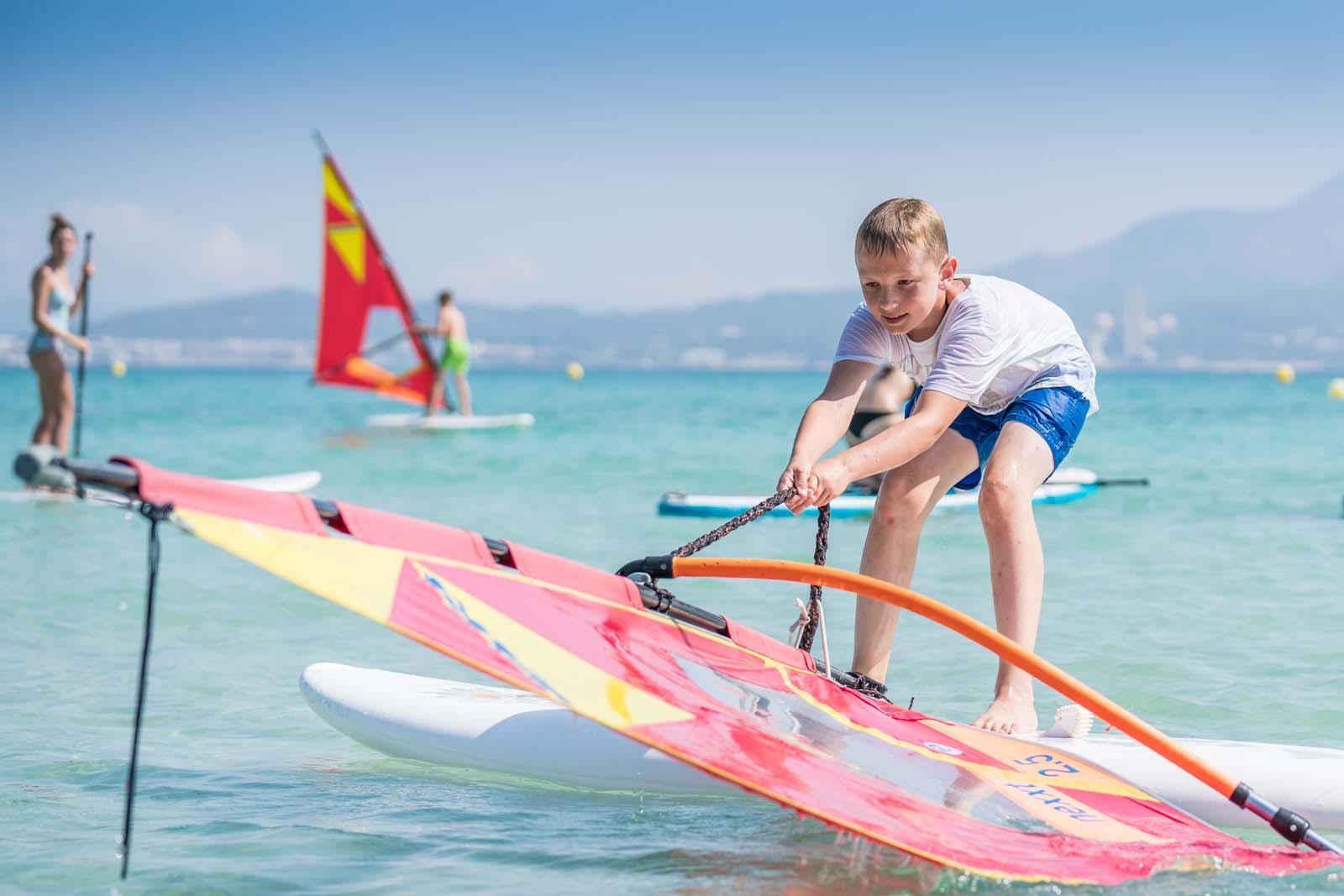 windsurfing beginner course for children school of windsurfing in