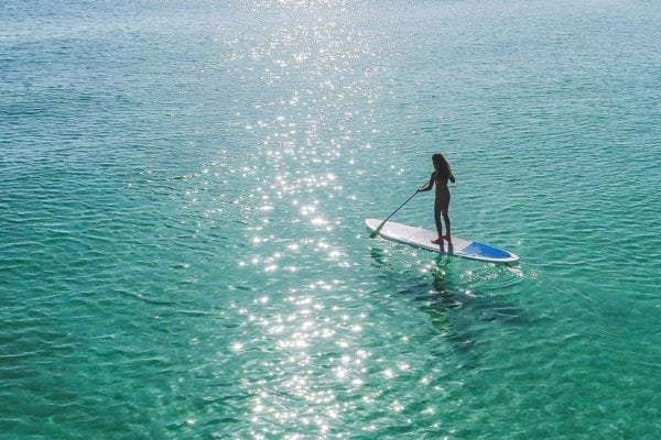 curso iniciacion paddle surf en mallorca en mallorca 600x400 - Initiation course of SUP – Stand Up Paddle
