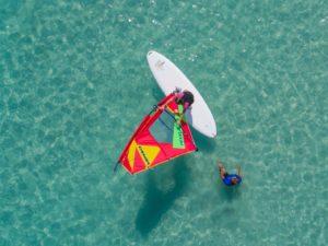 vista aerea escuela windsurf mallorca watersportsmallorca