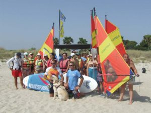 SUP and Windsurfing classes for the visually impaired