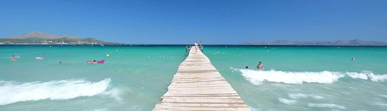 pantalan de la playa de muro en la bahia de alcudia - Playa de Muro